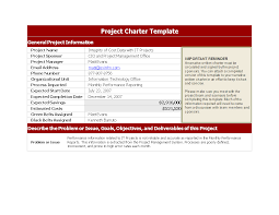 free project charter template templates at allbusinesstemplates com