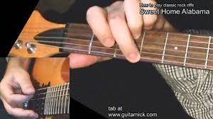 sweet home alabama with tab guitar lesson learn to play classic