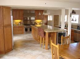 Tile Floor Kitchen Tiled Floors With Light Oak Cabinets Solid Oak Cabinets With
