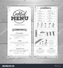 vintage cocktail vintage cocktail menu design stock vector 443116354 shutterstock