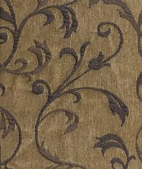 Blue Upholstery Fabric Delft Mill Creek Tan Blue Vine Pattern Upholstery Fabric