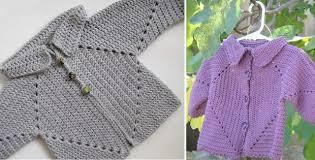 crochet baby sweater pattern hexagon crocheted baby sweater free crochet pattern