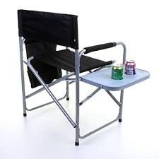 Folding Directors Chair With Side Table Marko Outdoor Folding Directors Chair Lightweight Portable Fish