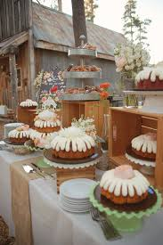 bundt cake table photo by emily heizer http ruffledblog com