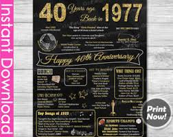 40 year wedding anniversary gift 40th anniversary etsy