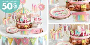 carousel baby shower pink carousel baby shower supplies pink carousel baby shower