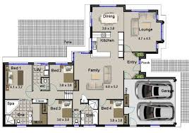 Split Level Homes Plans Australian Houses 4 Bed With 2 Living Areas Split Level Design