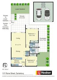 Canterbury Floor Plan 1 11 rome street canterbury nsw 2193 sold realestateview