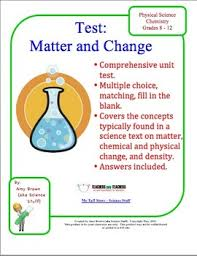chemistry test matter and change by amy brown science tpt