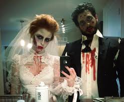 zombie themed halloween party my husband and i as zombie bride and groom halloween playing