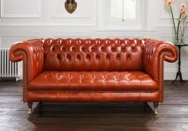 Orange Sofa Chair 10 Gorgeous Leather Chesterfield Sofa Designs You U0027ll Love Rilane