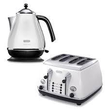Kettle Toaster De U0027longhi Micalite 4 Slice Toaster And Kettle Bundle White