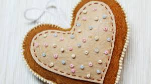 how to make a lovely felt heart ornament diy crafts tutorial