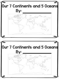 continents and oceans mini book by carmen brown tpt