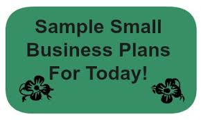 sample small business plan one page plan