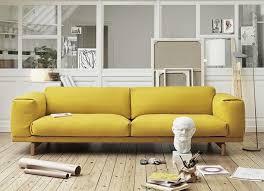 joli canapé 20 salons avec un canapé jaune joli place