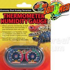 zoo med th 27 dual analog terrarium thermometer humidity gauge ebay