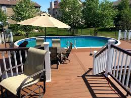 salt water pool composite decking synthetic wood pool decking pool