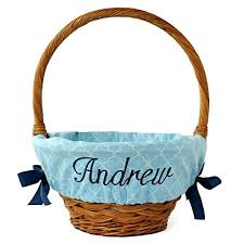 personalized easter basket trellis personalized easter basket liner 4 colors 2