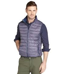 jachs blue printed and quilted puffer vest in blue for men lyst