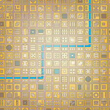 Grid Map Abstract Editable Vector Stylized Map Of A Generic City In A