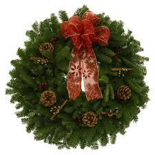 fresh wreaths worcester wreath 24 in balsam fir cinnamon stick fresh wreath