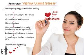 how to start wedding planning business for concept stock