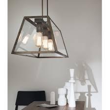 Suspension 3 Lampes Pour Cuisine by Suspension En Verre Et Fer Style Industrielle London Il Fanale