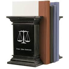 personalized bookends baby black marble lawyer bookends with scales of justice