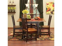 Maple Dining Room Table And Chairs Saber Solid Maple Drop Leaf Table Chair Set Morris Home