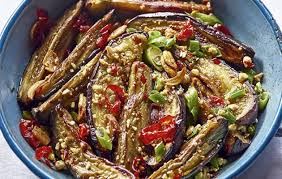 cuisine aubergines aubergines with and chilli country