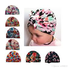 new baby hats floral print bunny ear caps ears cover hat europe