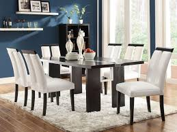 Dining Room Table With Sofa Seating Formal Dining Room Curtain Ideas Four Pieces Covered Fabric Chairs