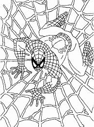 coloring pages beautiful spiderman coloring pages