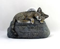 pet urns for cats bengal cat ceramic engraved painted cremation urn made