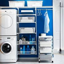 blue laundry rooms white and blue laundry room with blue trellis