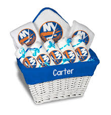 nyc gift baskets personalized new york islanders large gift basket nhl baby gift