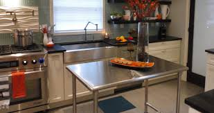 White Kitchen Island With Stainless Steel Top Kitchen Stainless Steel Kitchen Island Perfect Stainless Steel