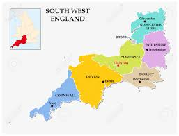 Somerset England Map South West England Administrative And Political Map Royalty Free