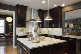 Contemporary Kitchen Lighting Contemporary Kitchen With Pendant Light U0026 European Cabinets In New