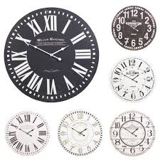 60cm extra large round wooden wall clock vintage retro antique