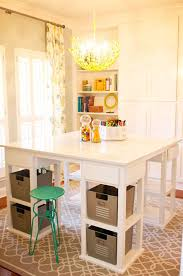 Diy Craft Desk With Storage Tables With Storage Attempting To Organize Your Creativity