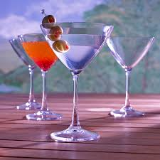 martini purple indoor outdoor martini glasses set of 4 wine enthusiast