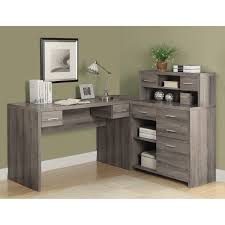 L Shaped Home Office Furniture Monarch Reclaimed Look L Shaped Home Office Desk Jet