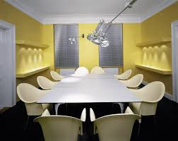 Modern Conference Room Design White Yellow Conference Room Interior Design Theme Conference