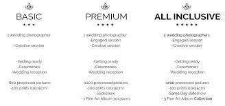 photography wedding packages wedding photography packages web 2016 photographer price