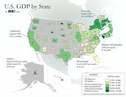 map of us states by world what us states look like based on their economic size mapped vox