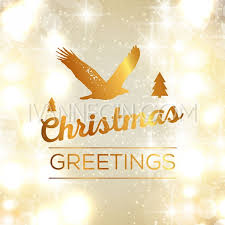 merry christmas and happy new year card festive invitation