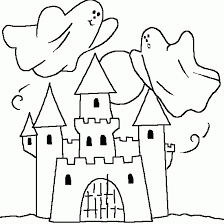 haunted castle coloring pages getcoloringpages
