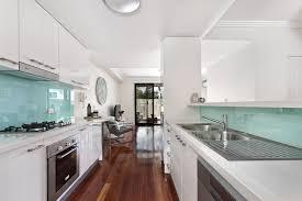 kitchen white backsplash 25 stylish galley kitchen designs designing idea